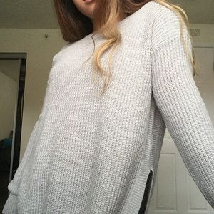 Charlotte Russe Cozy Gray Sweater